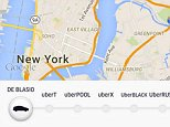 Along with hailing a car, Uber riders in New York City can now summon a vision of a dystopian future where a car takes 25 minutes to show up. The new ?feature? appears as a button labeled ?DE BLASIO? at the bottom of the screen, along with ones for black cars and food delivery. The option, named after Mayor Bill de Blasio, doesn't bring a car to your door. Instead, it offers such ominous messages as ?NO CARS-SEE WHY? and ?SEE WHAT HAPPENS.? It's Uber Technology's latest salvo in its fight with the New York City taxi cab industry. The company has also started running television advertisements against de Blasio. Uber is protesting a bill that would limit the company from expanding the number of cars on its system in New York City by more than 1 percent of its current size. The bill may go for a vote as early as next week.  Uber and other on-demand tech companies, such as Airbnb, are facing pressure from regulators around the world. Some of the companies, including Uber, have routinely u