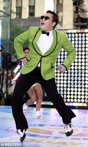 Psy, pictured, gained international fame with his hit song 'Gangnam Style' which had over 1 billion Youtube hits
