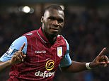 File photo dated 07-04-2015 of Aston Villa's Christian Benteke celebrates his goal PRESS ASSOCIATION Photo. Issue date: Friday July 17, 2015. Liverpool have made a £32.5million bid to trigger the release clause of Aston Villa striker Christian Benteke. See PA story SOCCER Liverpool. Photo credit should read Nick Potts/PA Wire.