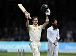 Ashes 2nd Test. Lords. England v Australia. day 2 17/06/15: Kevin Quigley/Daily Mail/Solo Syndication Steve Smith 200
