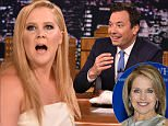 """NEW YORK, NY - JULY 15:  Amy Schumer Visits """"The Tonight Show Starring Jimmy Fallon"""" at Rockefeller Center on July 15, 2015 in New York City.  (Photo by Theo Wargo/NBC/Getty Images for """"The Tonight Show Starring Jimmy Fallon"""")"""