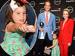 LOS ANGELES, CA - JULY 15:  (L-R) Actor Kiefer Sutherland, NFL player Peyton Manning with his daughter Mosley Thompson Manning and actress Rachel McAdams attend The 2015 ESPYS at Microsoft Theater on July 15, 2015 in Los Angeles, California.  (Photo by Kevin Mazur/WireImage)