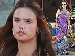 UK CLIENTS MUST CREDIT: AKM-GSI ONLY EXCLUSIVE: Santa Monica, CA - A fresh faced Alessandra Ambrosio goes grocery shopping with Anja at Pavilions in Santa Monica.  Pictured: Alessandra Ambrosio Ref: SPL1081038  160715   EXCLUSIVE Picture by: AKM-GSI / Splash News