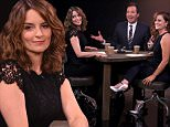 """THE TONIGHT SHOW STARRING JIMMY FALLON -- Episode 0290 -- Pictured: (l-r) Actress Tina Fey, host Jimmy Fallon and actress Amy Poehler play """"True Confessions"""" on July 14, 2015 -- (Photo by: Douglas Gorenstein/NBC/NBCU Photo Bank via Getty Images)"""