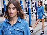 Alexa Chung seen outside of AG Soho Store in denim romper in New York.\n\nPictured: Alexa Chung\nRef: SPL1079380  160715  \nPicture by: Splash News\n\nSplash News and Pictures\nLos Angeles: 310-821-2666\nNew York: 212-619-2666\nLondon: 870-934-2666\nphotodesk@splashnews.com\n