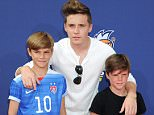 Pictured: Brooklyn Joseph Beckham, Romeo James Beckham, Cruz David Beckham Mandatory Credit © Gilbert Flores/Broadimage Kids' Choice Sports 2015  7/16/15, Westwood, CA, United States of America  Broadimage Newswire Los Angeles 1+  (310) 301-1027 New York      1+  (646) 827-9134 sales@broadimage.com http://www.broadimage.com