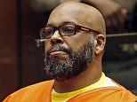 """FILE - In this July 7, 2015, file photo,  Marion Hugh """"Suge"""" Knight sits for a hearing in his murder case in Superior Court in Los Angeles. Knight's attorneys are arguing that the former rap music mogul's bail in a murder case should be reduced from $10 million. His attorneys are expected to contend Friday, July 17, 2015, that the bail amount is excessive and should be reduced, but a prosecutor argues the amount is appropriate given his criminal history and failure to appear for court hearings in other cases. (Patrick T. Fallon/Pool Photo via AP, File)"""