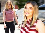 Mandatory Credit: Photo by Sara Jaye Weiss/REX Shutterstock (4904689e)\n Willow Shields\n Willow Shields out and about, Los Angeles, America - 16 Jul 2015\n Willow Shields shows off a new chic haircut in the Silverlake neighborhood of Los Angeles. Shields wears on-rend ripped denim along with a Joe Boxer striped top.\n