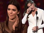 """""""The ESPY Awards"""" Caitlyn Jenner accepts the Arthur Ashe Award for Courage in Sports and is joined by her family, the Kardashians and the Jenners."""