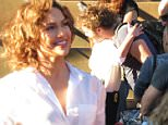 Jennifer Lopez smiles and hugs a young man on set during break, gets a visit from sister Lynda Lopez and films with Ray Liotta in Brooklyn, New York on the set of her new show, Shades of Blue. The actress was sitting on a stoop when a man approached her as she gave him a very big open arms hug as she looked into his eyes and smiled as her security and sister were nearby. Later Jennifer filmed an intense scene with her boss in the show played by Ray Liotta who had a gash on his right eye. Jennifer's sister watched her scenes from a director's area on set.\n\nPictured: Jennifer Lopez, Lynda Lopez, Ray Liotta\nRef: SPL1081244  170715  \nPicture by: Brian Prahl / Splash News\n\nSplash News and Pictures\nLos Angeles: 310-821-2666\nNew York: 212-619-2666\nLondon: 870-934-2666\nphotodesk@splashnews.com\n