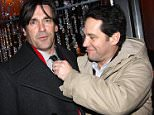 "NEW YORK - FEBRUARY 05:  John Hamm and Paul Rudd attend the opening night afterparty for ""You're Welcome America. A Final Night with George W. Bush"" at Mansion on February 5, 2009 in New York City.  (Photo by Bruce Glikas/FilmMagic)"