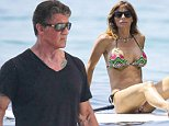 Picture Shows: Sylvester Stallone, Scarlet Stallone  July 17, 2015\n \n 'Expendables' star Sylvester Stallone and his family enjoy another day aboard a yacht in Eze, France. The family soaked up the sun after celebrating Sly's 69th birthday in Venice recently. (His birthday is on July 6.) Sylvester is enjoying a bit of down time before heading back to an action movie where he's rumored to be making a Rambo 5.\n \n Non-Exclusive\n UK RIGHTS ONLY\n \n Pictures by : FameFlynet UK ? 2015\n Tel : +44 (0)20 3551 5049\n Email : info@fameflynet.uk.com