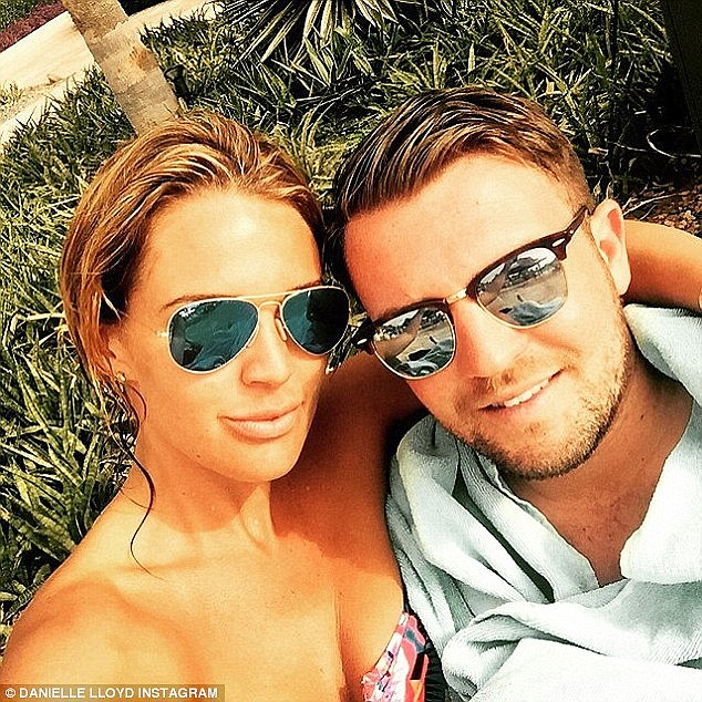 Loved up:The former Celebrity Big Brother contestant is enjoying a long-distance romance with Dubai-based property developer Tom Jimson