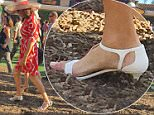 EXCL ALL-ROUND. Coleman-Rayner.\nSan Diego, CA. USA. July 16, 2015.\nCaitlyn Jenner experiences women's problems as she gets her high heels stuck in the dirt on the opening day at the Del Mar Races in San Diego. Jenner was seen parading in a red wrap-dress with rumored transgender girlfriend Candis Cayne.\nCREDIT MUST READ: Karl Larsen/Coleman-Rayner\nTel US (001) 323 545 7584 - Mobile\nTel US (001) 310 474 4343 - Office\nwww.coleman-rayner.com