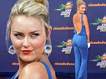 """Lindsey Vonn accepts the """"donít try this at home"""" award at the 2015 Kids' Choice Sports Awards show at Pauley Pavilion on Thursday, July 16, 2015, in Los Angeles. (Photo by Paul A. Hebert/Invision/AP)"""