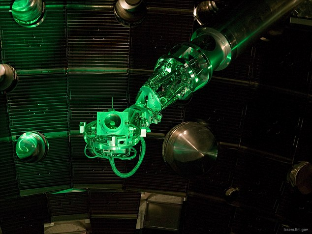 Equipment at the National Ignition Facility: The result on March 15 shows scientists could be close to the goal of 'fusion ignition'