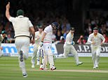 Ashes 2nd Test. Lords. England v Australia. day 2 17/06/15: Kevin Quigley/Daily Mail/Solo Syndication Adam Lyth out for 0