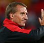 BRISBANE, AUSTRALIA - JULY 17:  Liverpool FC coach Brendan Rodgers celebrates winning the international friendly match between Brisbane Roar and Liverpool FC at Suncorp Stadium on July 17, 2015 in Brisbane, Australia.  (Photo by Chris Hyde/Getty Images)