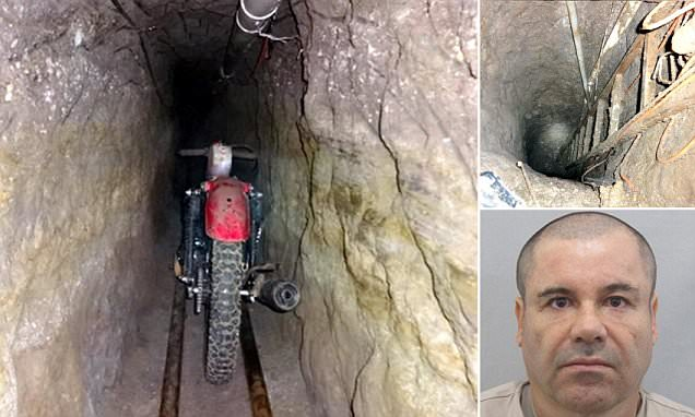 El Chapo's 'motorbike on rails' used in tunnel escape from prison pictured