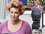 17 Jul 2015 - LONDON - UK ** EXCLUSIVE ALL ROUND PICTURES ** NEW MUM BILLI MUCKLOW SEEN WEARING CURLERS WHILST OUT SHOPPING WITH HER MUM IN ESSEX.  BILLI GAVE BIRTH ABOUT FOUR WEEKS AGO TO A BABY BOY HER AND HUSBAND ANDY CAROLL CALLED ARLO.  SHE DOTED ON HIM AS SHE STOPPED AND SHOWED HIM OFF TO FRIENDS WHILST HER MUM LOOKED ON. BYLINE MUST READ : XPOSUREPHOTOS.COM ***UK CLIENTS - PICTURES CONTAINING CHILDREN PLEASE PIXELATE FACE PRIOR TO PUBLICATION *** **UK CLIENTS MUST CALL PRIOR TO TV OR ONLINE USAGE PLEASE TELEPHONE 44 208 344 2007**