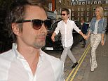 Mandatory Credit: Photo by REX Shutterstock (4905694c)  Matt Bellamy and Elle Evans  Celebrities at the Chiltern Firehouse, London, Britain - 17 Jul 2015