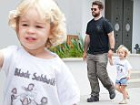 EXCLUSIVE TO INF.\nJuly 18, 2015: Jack Osbourne takes Pearl Osbourne on a play date in Malibu Cross Creek park Pearl wears a Black Sabbath  shirt with caricatures of Grandpa Ozzy and band mates, Malibu, CA.\nMandatory Credit: Borisio/SAA/INFphoto.com Ref.: infusla-277/302