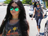 Studio City, CA - Actress Vanessa Hudgens sports a new look as she is spotted with longer raven tresses while out in Studio City. Vanessa has said in prior interviews that she loves to change up her hair according to the seasons and loves hair extensions. The actress, who rocked a short bob, went for mega extensions without the transitional length. \n AKM-GSI July 17, 2015\n \n To License These Photos, Please Contact :\n \n Steve Ginsburg\n (310) 505-8447\n (323) 423-9397\n steve@akmgsi.com\n sales@akmgsi.com\n \n or\n \n Maria Buda\n (917) 242-1505\n mbuda@akmgsi.com\n ginsburgspalyinc@gmail.com