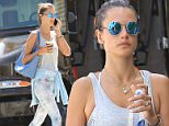 Brentwood, CA - Supermodel beauty Alessandra Ambrosio runs errands on a beautiful Friday afternoon in Brentwood.  The leggy beauty attended her pilates class and grabbed a beverage at Caffe Lux afterwards.  \nAKM-GSI        July 17, 2015\nTo License These Photos, Please Contact :\nSteve Ginsburg\n(310) 505-8447\n(323) 423-9397\nsteve@akmgsi.com\nsales@akmgsi.com\nor\nMaria Buda\n(917) 242-1505\nmbuda@akmgsi.com\nginsburgspalyinc@gmail.com