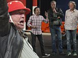 'Clarkson, Hammond & May Live' at Perth Arena\nFeaturing: Jeremy Clarkson Richard Hammond\nWhere: Perth, Australia\nWhen: 18 Jul 2015\nCredit: WENN.com\n**No Internet Use**