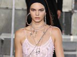 PARIS, FRANCE - JUNE 26:  Kendall Jenner walks the runway during the Givenchy Menswear Spring/Summer 2016 show as part of Paris Fashion Week on June 26, 2015 in Paris, France.  (Photo by Antonio de Moraes Barros Filho/WireImage)