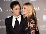 Mandatory Credit: Photo by David Fisher/REX Shutterstock (4520155y).. Kate Moss and Jamie Hince.. Alexander McQueen: Savage Beauty Fashion Benefit Dinner, V&A Museum, London, Britain - 12 Mar 2015.. ..