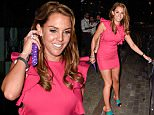 *** Fee of £150 applies for subscription clients to use images before 22.00 on 190715 ***\nEXCLUSIVE ALLROUNDERDanielle Lloyd leaves Nuvo club in Birmingham after a night out with her friends.\nFeaturing: Danielle Lloyd, Danielle O'Hara\nWhere: Birmingham, United Kingdom\nWhen: 18 Jul 2015\nCredit: WENN.com
