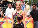 Rita Ora attending the X Factor auditions held at Wembley Arena, London. PRESS ASSOCIATION Photo. Picture date: Thursday July 16, 2015. Photo credit should read: Ian West/PA Wire