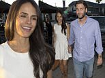 'Fast & The Furious' star, Jordana Brewster with a large piece of plaster on her leg arrived at 'Craigs' restaurant with her husband Andrew Form in West Hollywood, CA\n\nPictured: Jordana Brewster,  Andrew Form\nRef: SPL1082039  180715  \nPicture by: SPW / Splash News\n\nSplash News and Pictures\nLos Angeles: 310-821-2666\nNew York: 212-619-2666\nLondon: 870-934-2666\nphotodesk@splashnews.com\n