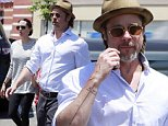 Picture Shows: Brad Pitt  July 10, 2015\n \n ** Min Web / Online fee £200 **\n \n Happy couple Brad Pitt and Angelina Jolie take two of their six kids, Shiloh and Pax, shopping at a Toys R Us in Glendale, California.\n \n The power duo, who have been dating since 2005, will celebrate their first wedding anniversary together next month.\n \n ** Min Web / Online fee £200 **\n \n Exclusive All Rounder\n UK RIGHTS ONLY\n FameFlynet UK © 2015\n Tel : +44 (0)20 3551 5049\n Email : info@fameflynet.uk.com