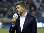 CARSON, CA - JULY 4: New Los Angeles Galaxy midfielder Steven Gerrard is introduced in front of fans during halftime against Toronto FC on July 4, 2015 at StubHub Center in Carson, California. The former Liverpool captain Steven Gerrard is scheduled to play his first MLS match on Friday, July 17 at StubHub Center against San Jose Earthquakes. (Photo by Kevork Djansezian/Getty Images)