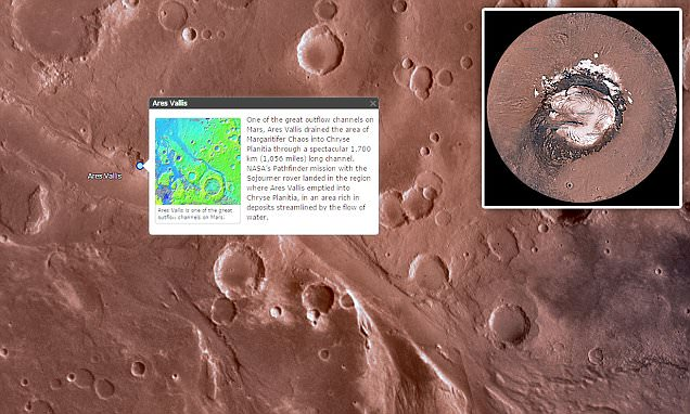Nasa's 'crater view' of Mars lets you journey around the planet