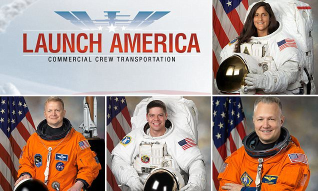 Nasa selects 4 astronauts to fly 1st commercial space missions
