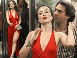 """Olivia Wilde and Bobby Cannavale seen arguing while filming a scene at the HBO tv series """"Rock N Roll"""" set in Midtown, Manhattan.\n\nPictured: Olivia Wilde and Bobby Cannavale\nRef: SPL1081210  170715  \nPicture by: Jose Perez \n\nSplash News and Pictures\nLos Angeles: 310-821-2666\nNew York: 212-619-2666\nLondon: 870-934-2666\nphotodesk@splashnews.com\n"""