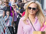 Picture Shows: Jade Jones, Beau Jones, Emma Bunton  July 17, 2015    'Baby Spice' Emma Bunton and her partner Jade Jones seen with their two sons at Thorpe Park theme park in Chertsey, Surrey, UK.    Non-Exclusive  WORLDWIDE RIGHTS    Pictures by : FameFlynet UK © 2015  Tel : +44 (0)20 3551 5049  Email : info@fameflynet.uk.com