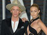 Mandatory Credit: Photo by Stewart Cook/REX Shutterstock (4448579ii).. Cody Simpson, Gigi Hadid.. 87th Academy Awards, Oscars, Vanity Fair After Party, Los Angeles, America - 22 Feb 2015.. ..