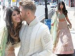 LONDON, UNITED KINGDOM - JULY 19: Jasmin Walia seen arriving at an Indian wedding in Lewisham to begin filming for the TV show 'Desi Rascals' on July 19, 2015 in London, England.  PHOTOGRAPH BY Eagle Lee / Barcroft Media UK Office, London. T +44 845 370 2233 W www.barcroftmedia.com USA Office, New York City. T +1 212 796 2458 W www.barcroftusa.com Indian Office, Delhi. T +91 11 4053 2429 W www.barcroftindia.com