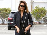 "Picture Shows: Jessica Alba  July 20, 2015    ""Sin City"" star Jessica Alba runs errands in Culver City, California. Jessica was looking smart for her outing in a black pantsuit and black heels. It was recently announced that her Honest Company will soon be opening up kiosks in five airports across the United States.    Exclusive All Rounder  UK RIGHTS ONLY    Pictures by : FameFlynet UK © 2015  Tel : +44 (0)20 3551 5049  Email : info@fameflynet.uk.com"