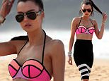 Photograph show Australias Top next model on Palm Beach today for her first fashion shoot for Westfield.Photograph by Dean Sewell/Daily Mail.Taken Monday 20th July 2015.