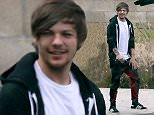 EXCLUSIVE: Louis Tomlinson is all smiles as he makes a flying visit to Los Angeles in between One Direction's Canadian shows. The British boy band member appeared happy and relaxed as he stepped off a private jet in LA - where the mother of his unborn baby lives. Louis, who was dressed down in a black hoodie and white t-shirt, was seen chatting to people before climbing into a black Escalade. His trip to LA will only be brief as One Direction, who played a concert in Vancouver on July 17, have another Canadian show scheduled in Edmonton on July 21. These photos, taken on July 19, mark the first time Louis has been seen off-stage since it emerged that LA-based stylist Briana Jungwirth is pregnant with his child.