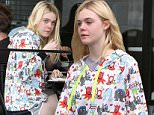 """Studio City, CA - """"Phoebe in Wonderland"""" star Elle Fanning is spotted making her way to Michael's Arts and Crafts Store with her mom in Studio City.\nAKM-GSI       July 18, 2015\nTo License These Photos, Please Contact :\nSteve Ginsburg\n(310) 505-8447\n(323) 423-9397\nsteve@akmgsi.com\nsales@akmgsi.com\nor\nMaria Buda\n(917) 242-1505\nmbuda@akmgsi.com\nginsburgspalyinc@gmail.com"""