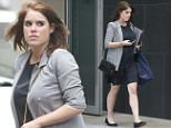 Princess Eugenie Skips to work as she arrives at the London offices of Hauser & Wirth. located in Zurich, London and New York. The gallery represents emerging and established contemporary artists...Tel: 07515 876520..© Kelvin Bruce