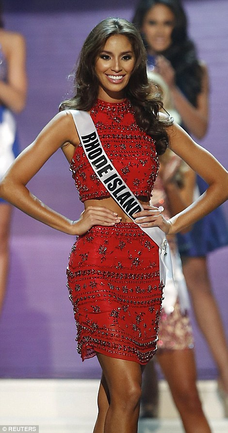 Miss Rhode Island USA Anea Garcia poses during the pageant on Sunday