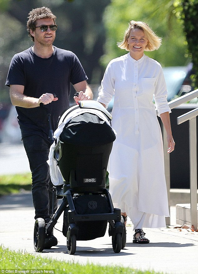 Busy parents! The couple, who reside in Los Angeles, are currently in Vancouver while Sam shoots his new movie The Shack, in which he plays a grieving father who faces 'God' after his daughter is kidnapped