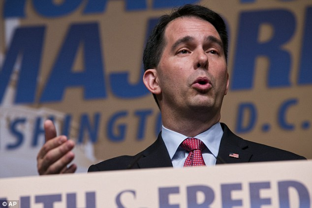 He's in: Wisconsin Governor Scott Walker announced Monday morning on social media that he is running for president, making him the 15th Republican candidate